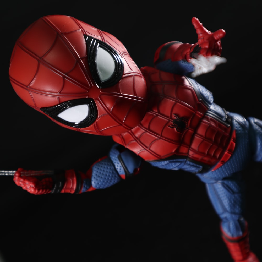 red and blue spider man