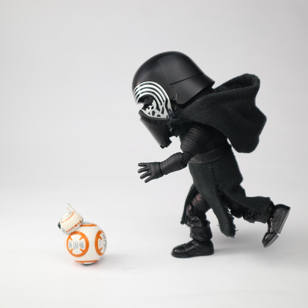 black and white star wars character