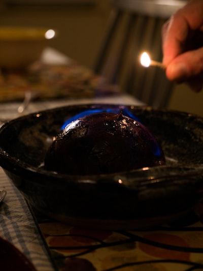 chocolate cake on black ceramic plate