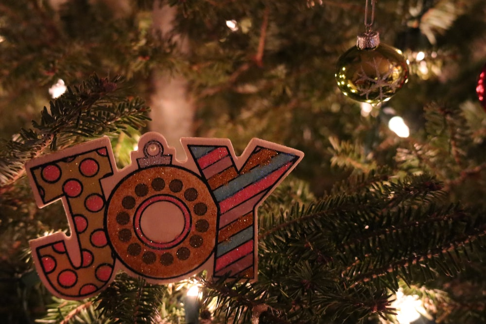 red and gold christmas ornament