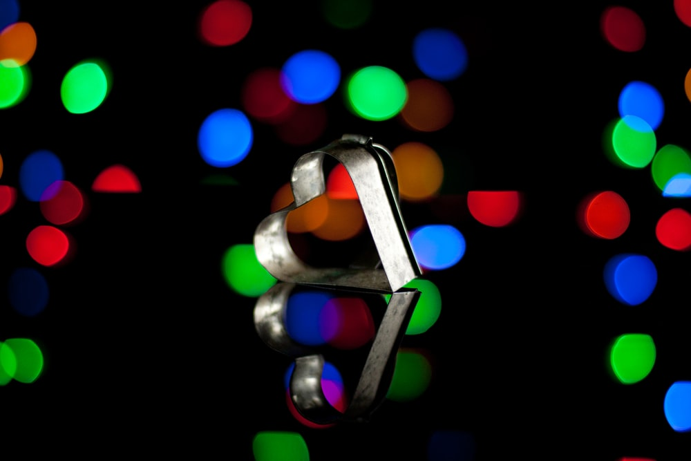 red green and blue light bokeh