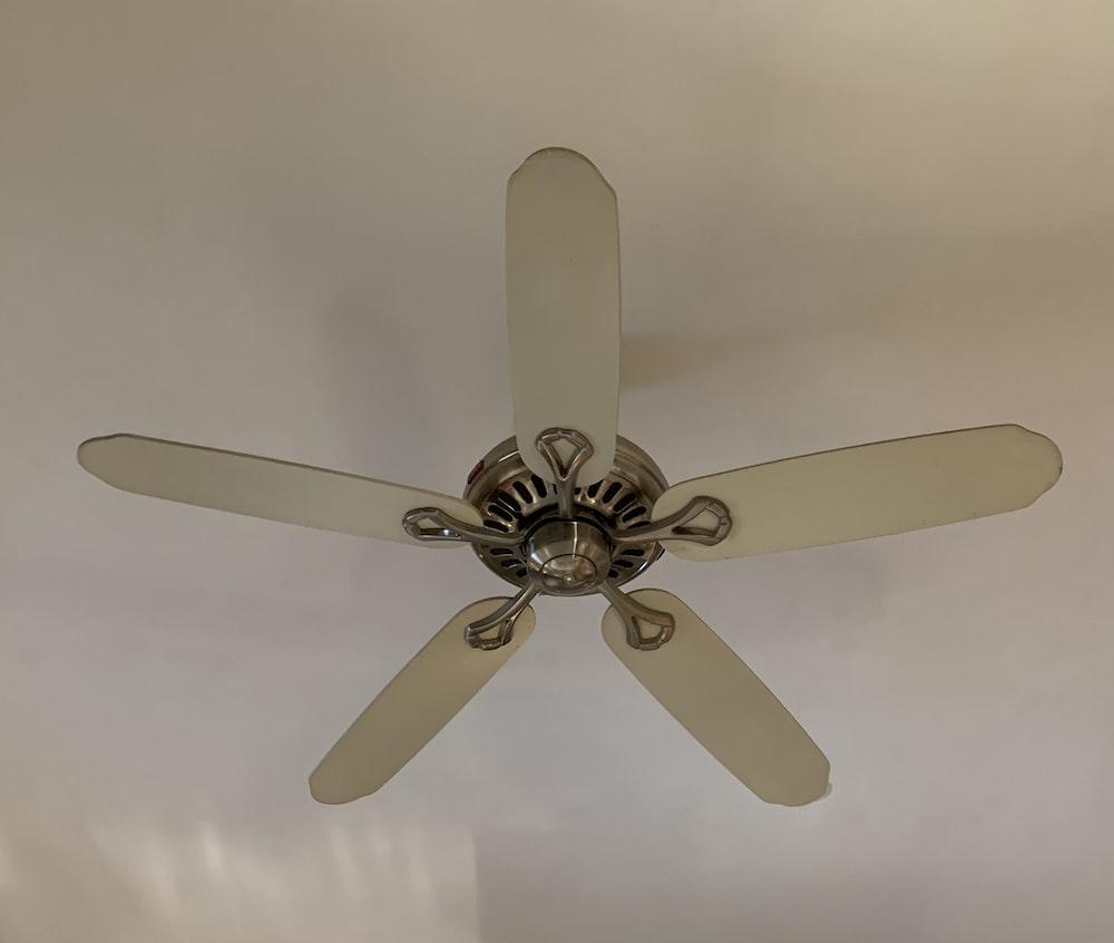 white 5 blade ceiling fan