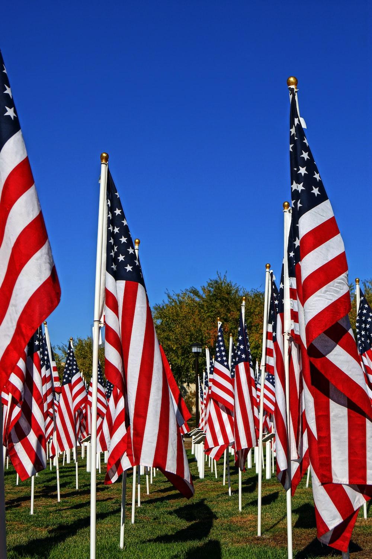 us a flags on flag poles