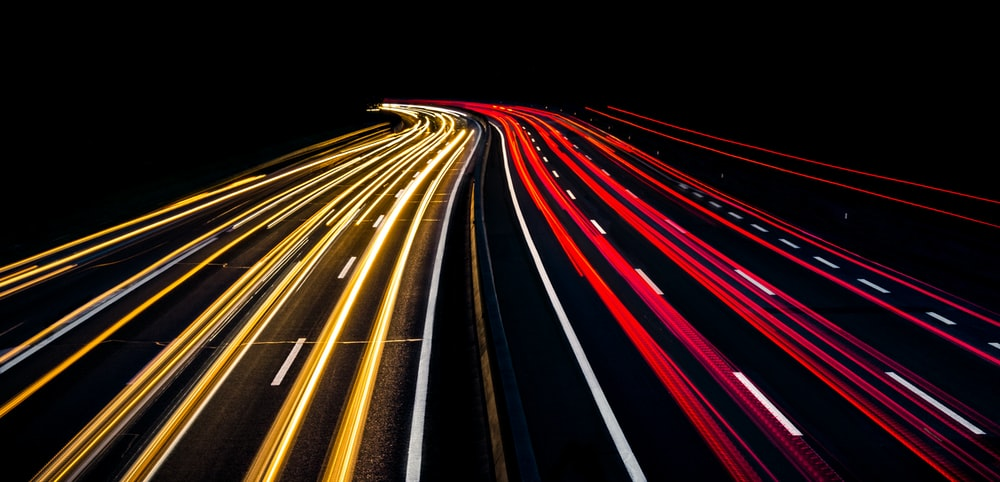 time lapse photography of lights