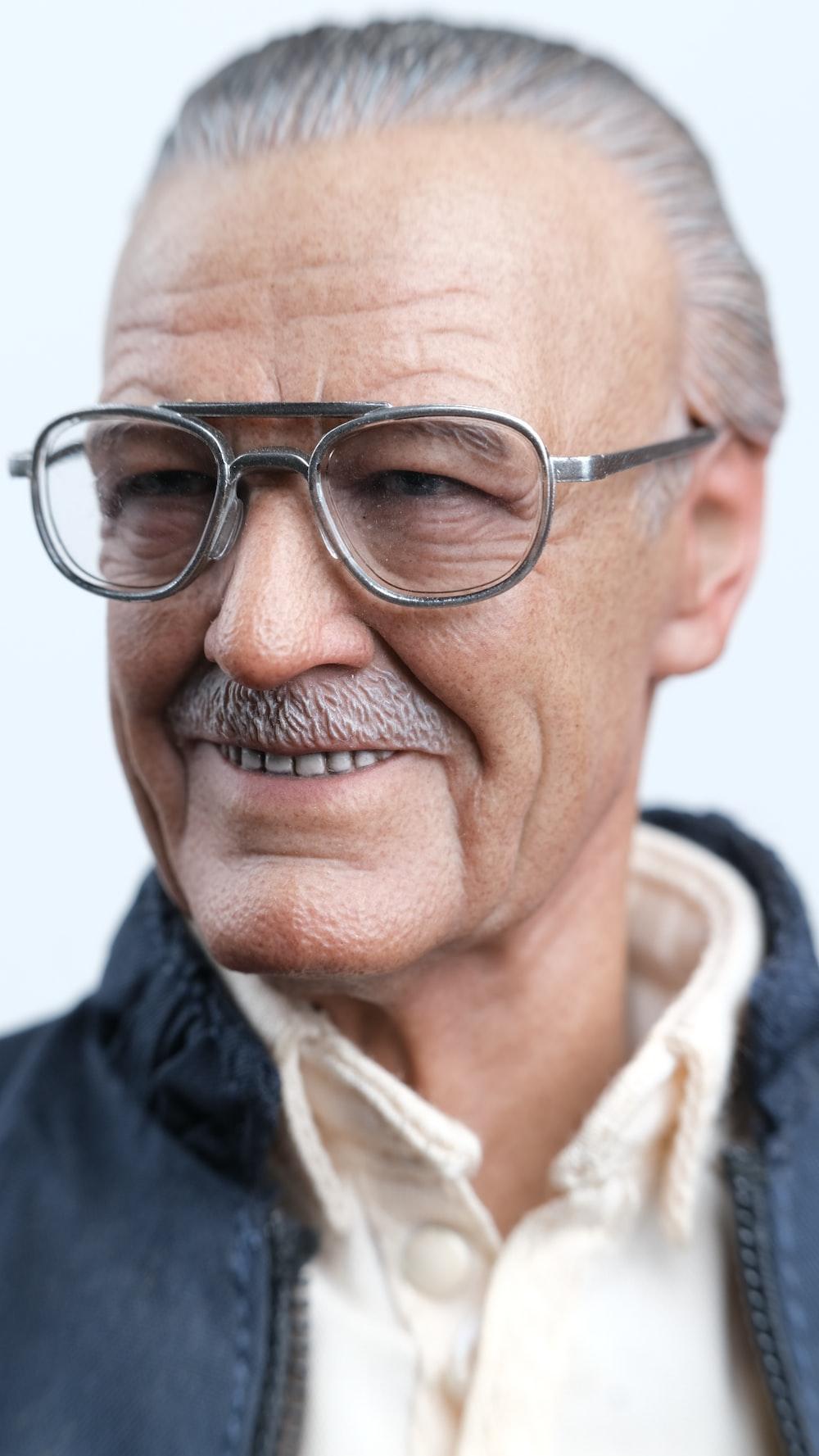 man in black framed eyeglasses
