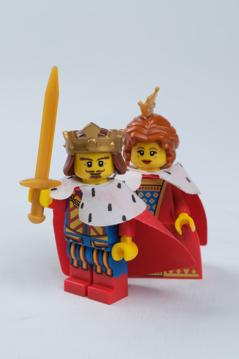 red and blue lego minifig