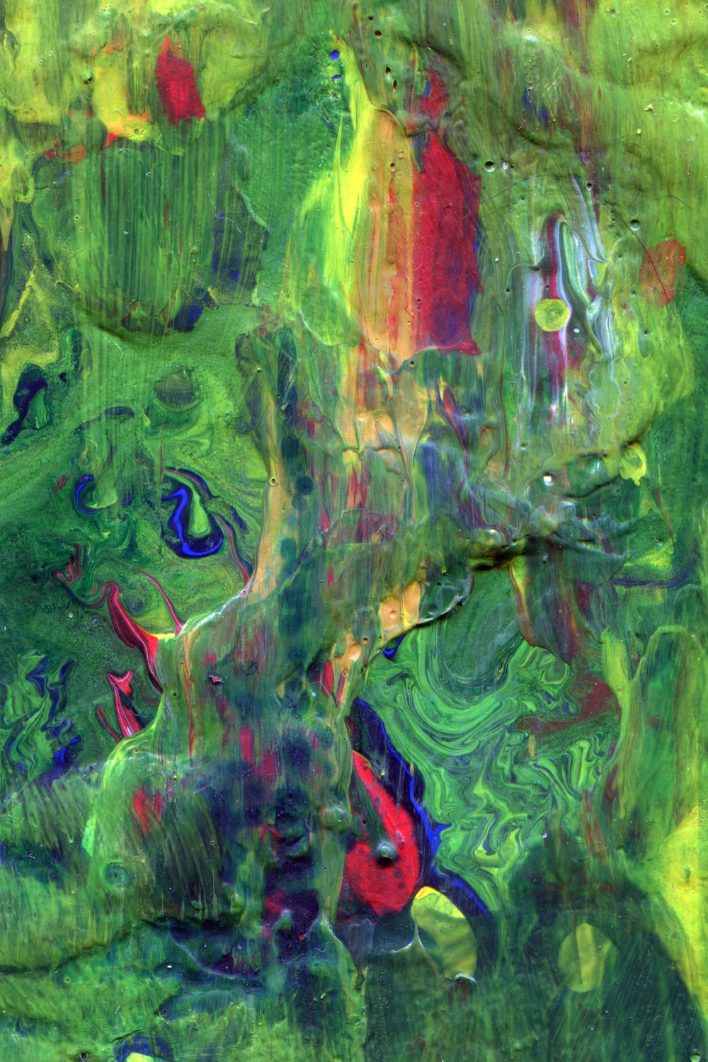 green red and blue abstract painting