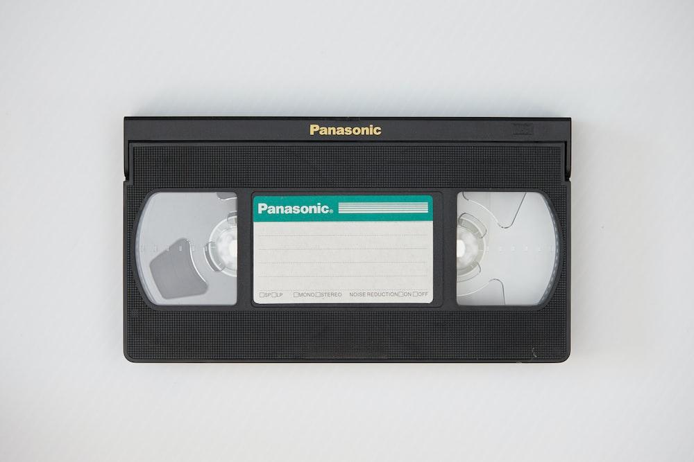 black and white sony cassette tape