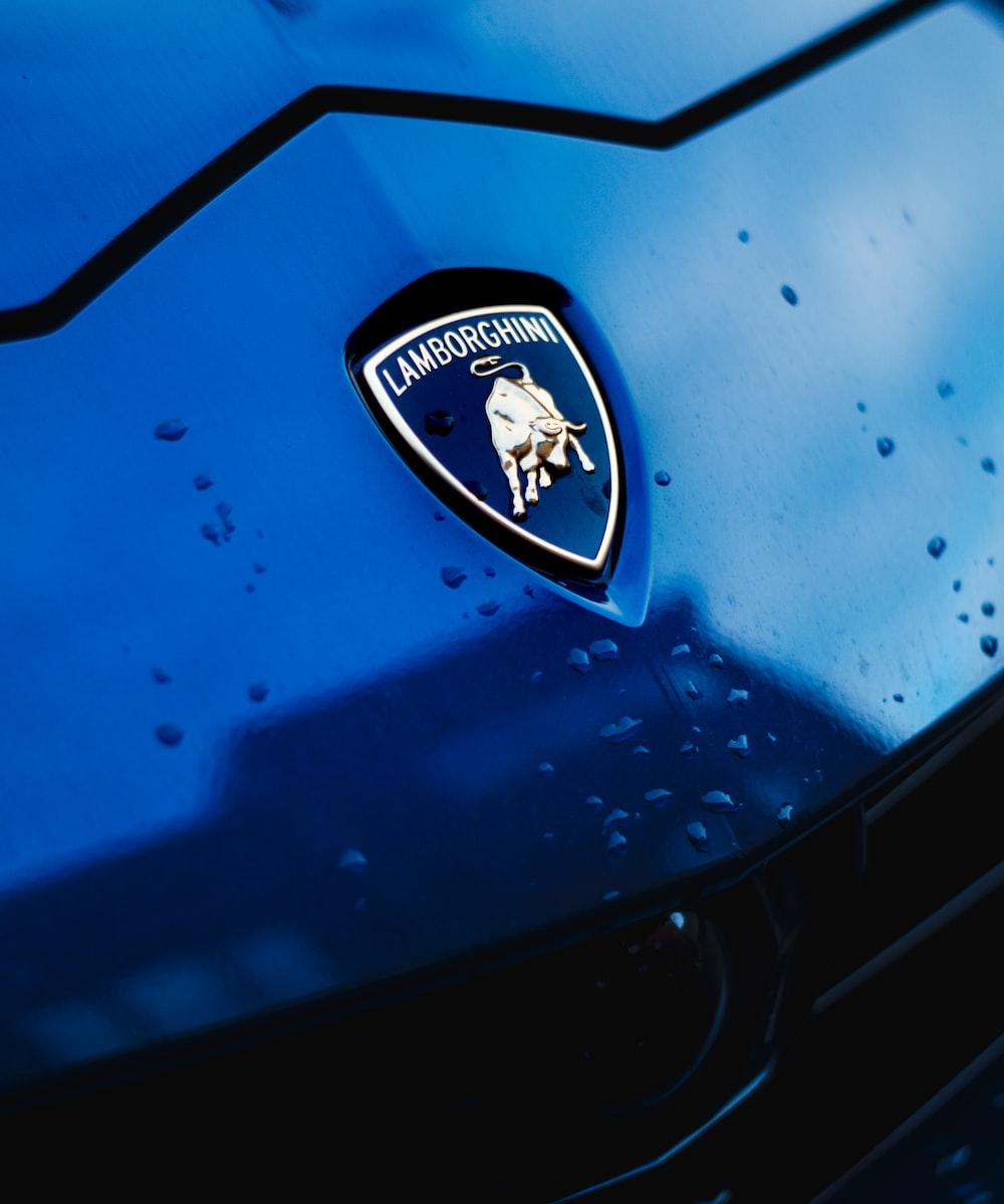 blue and white car logo