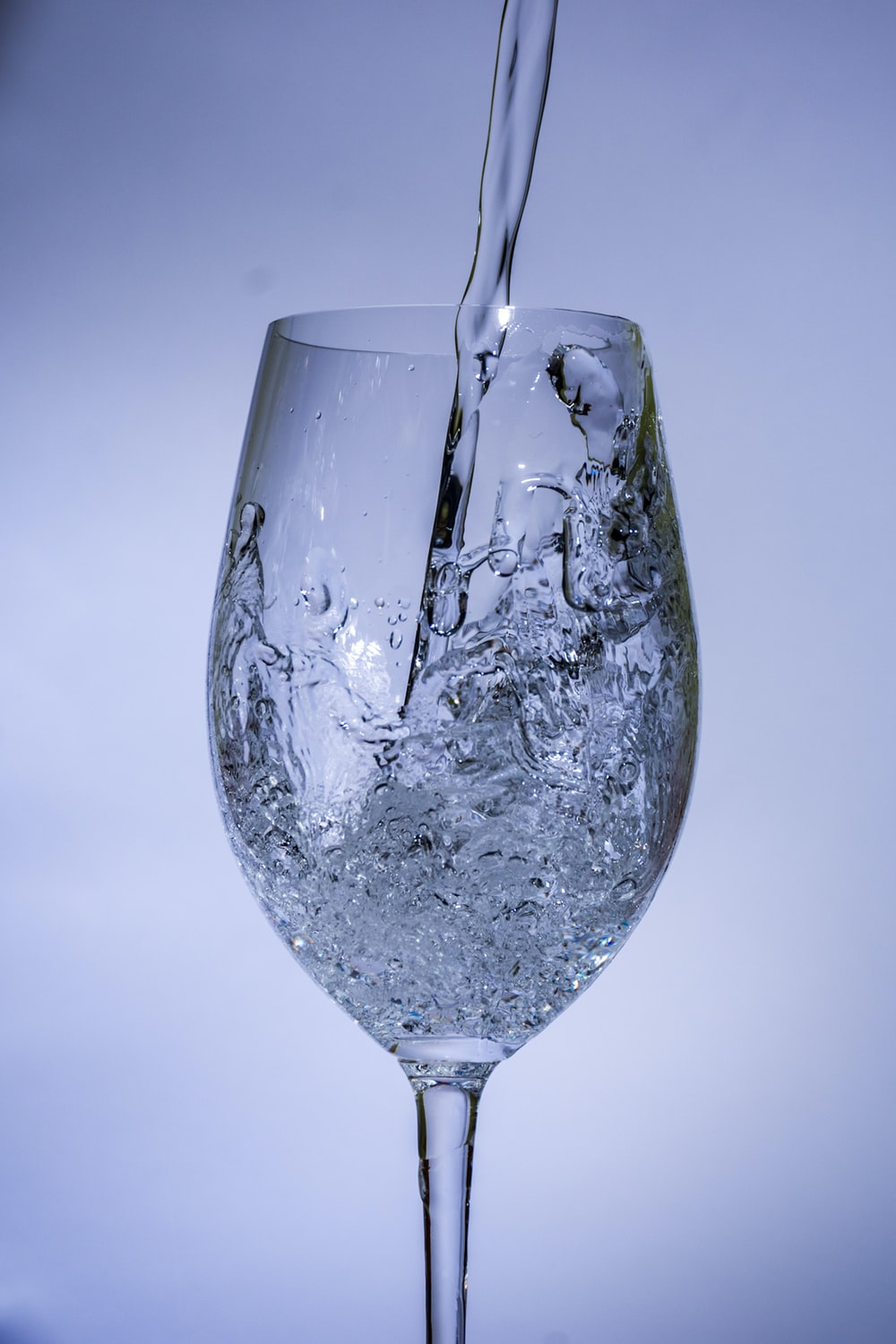 clear wine glass with water