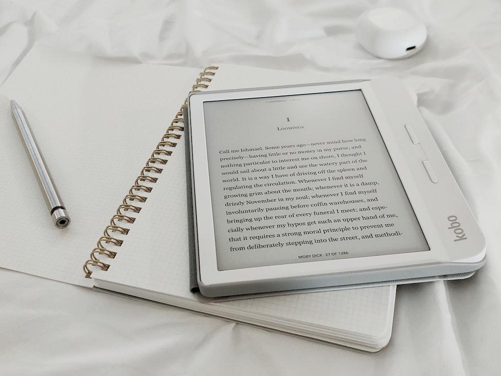 white book page on white textile