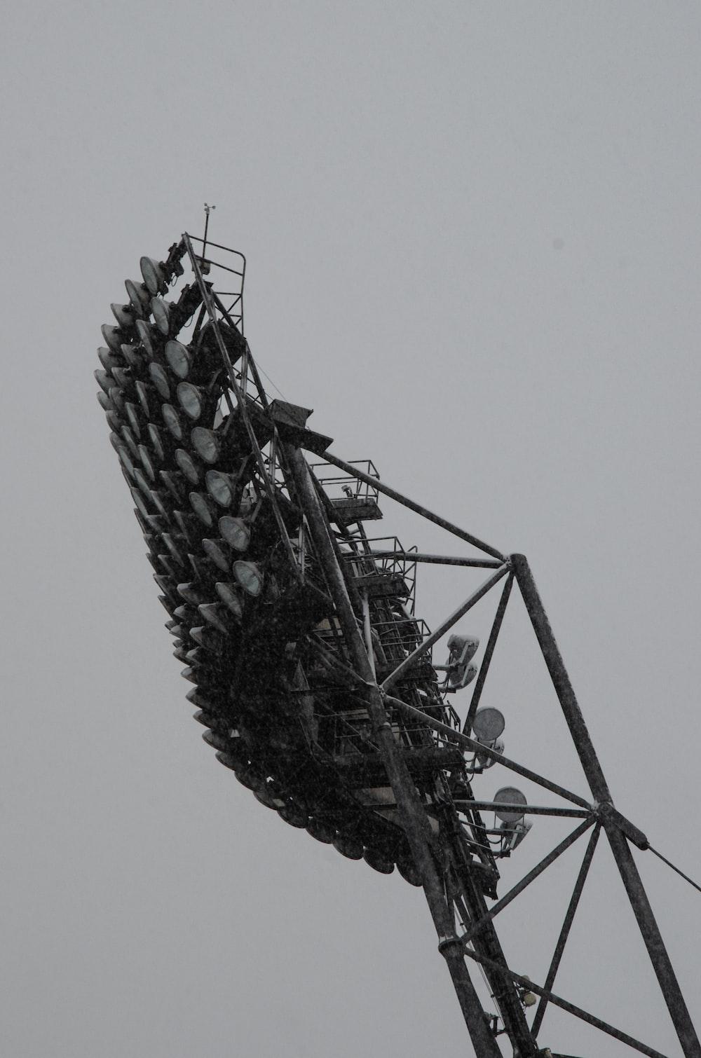 black and gray ferris wheel