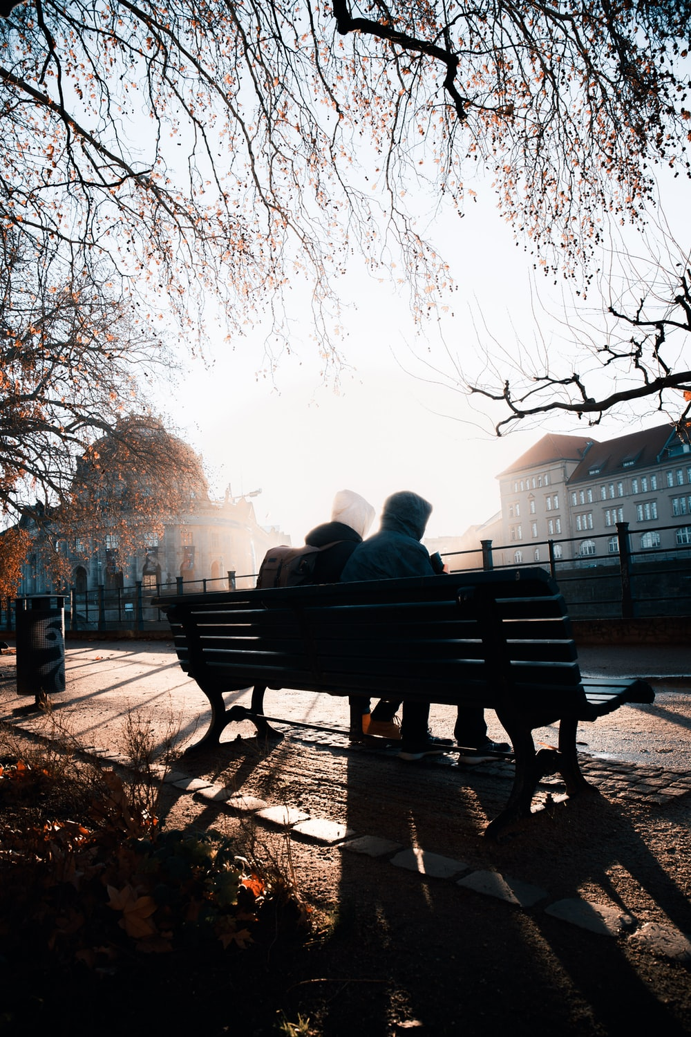 couple sitting on bench during daytime