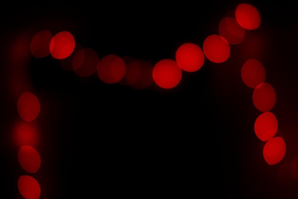 red heart light in dark room
