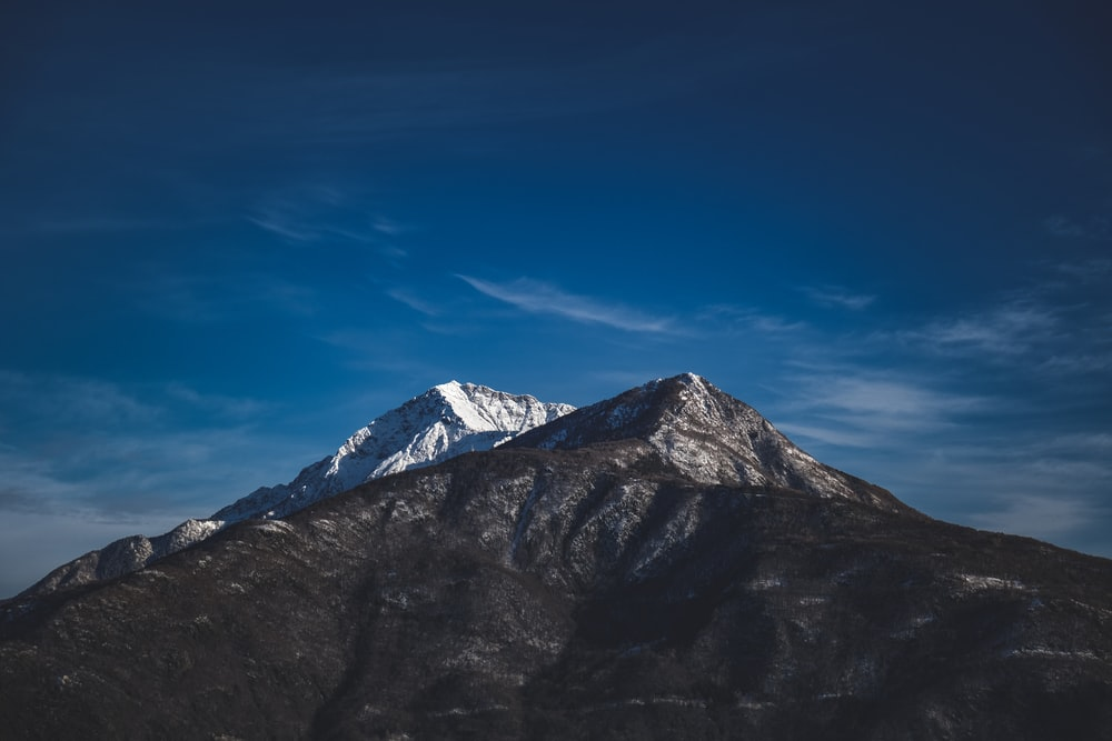 brown and gray mountain under blue sky during daytime