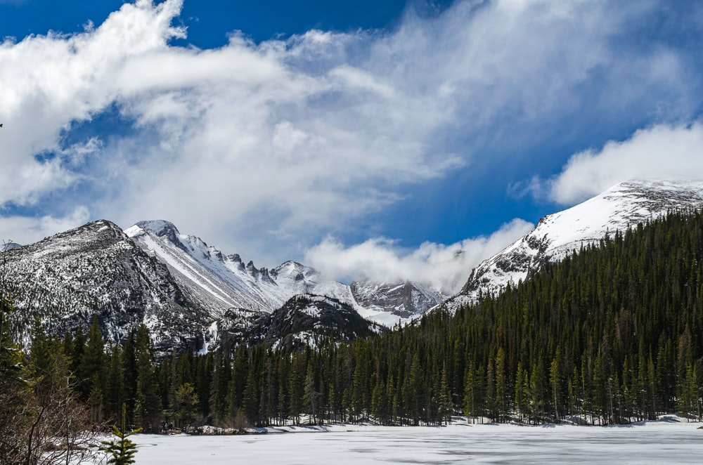 snow covered mountain under blue sky and white clouds during daytime