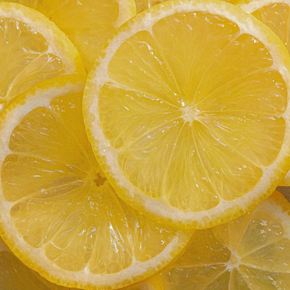 yellow lemon fruit on water