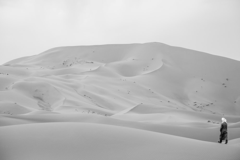 white sand under white sky
