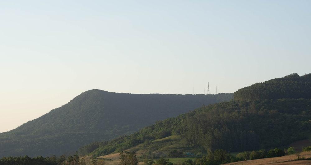 green mountain under white sky during daytime