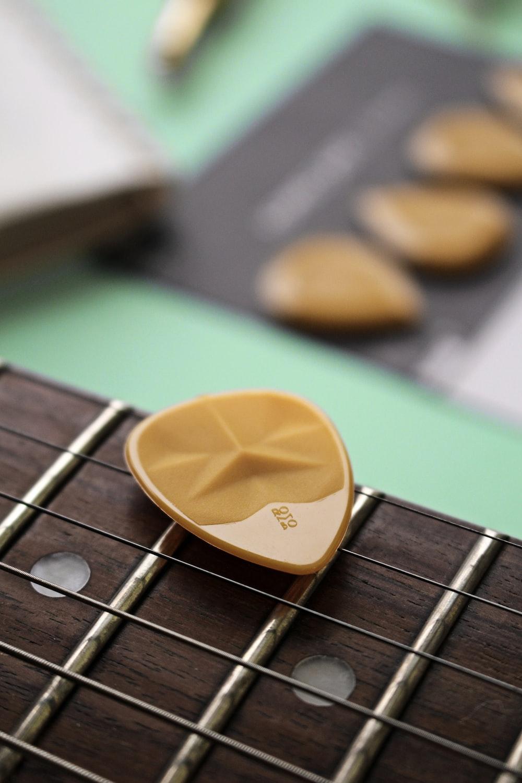 yellow heart shaped guitar pick