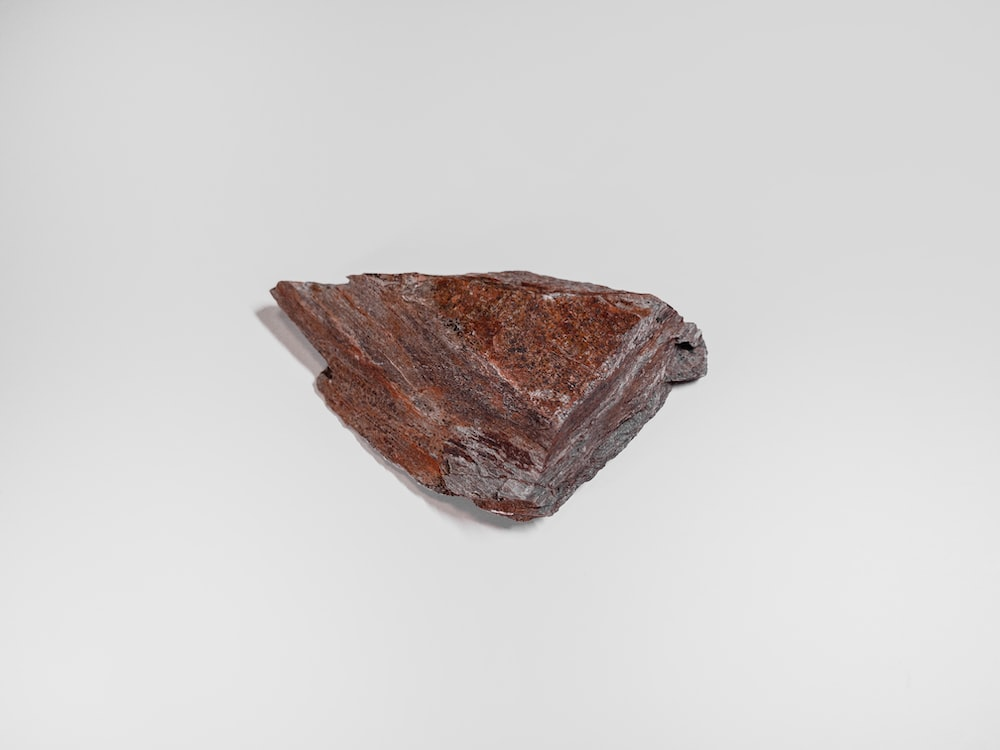 brown and gray stone fragment