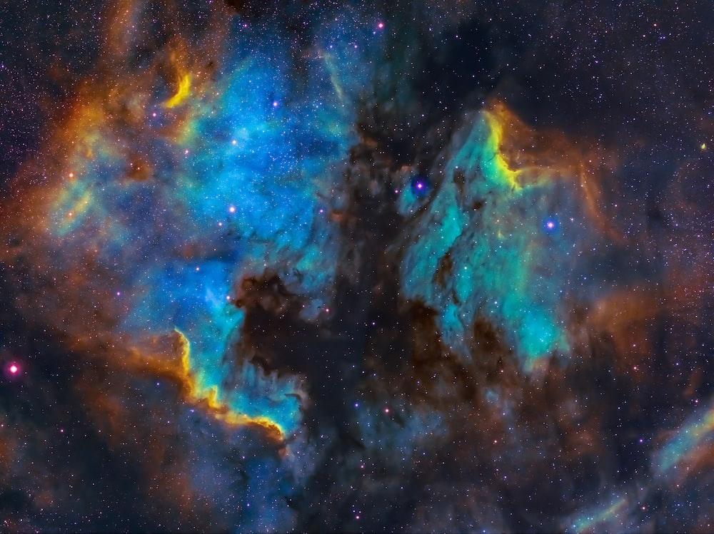 blue and black galaxy digital wallpaper