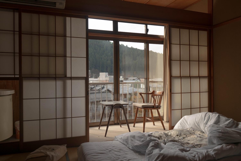 Japandi style interior with Japanese aesthetic