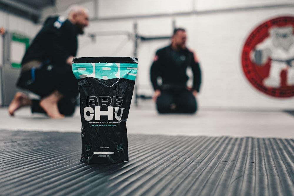 black and green plastic bag