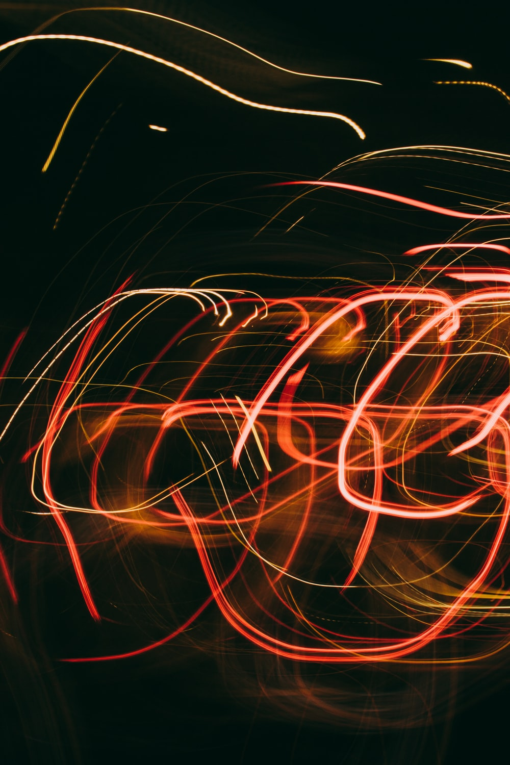 red and yellow light streaks
