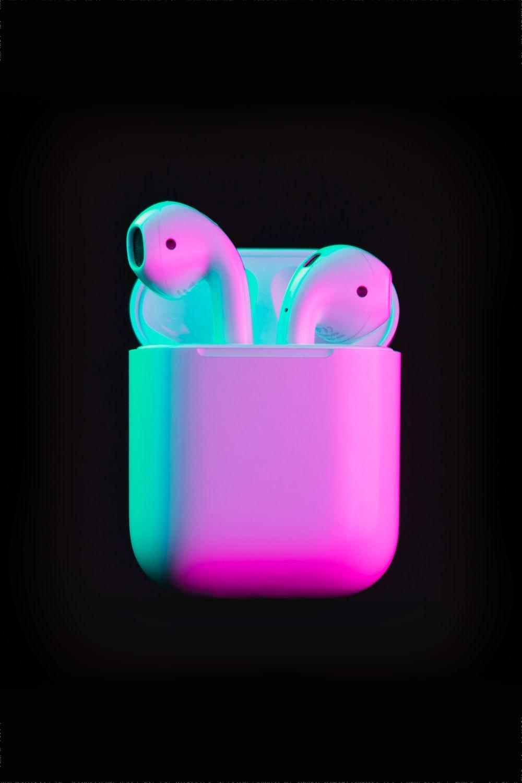 purple and pink rabbit plastic toy