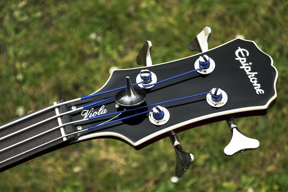 black and white guitar pick