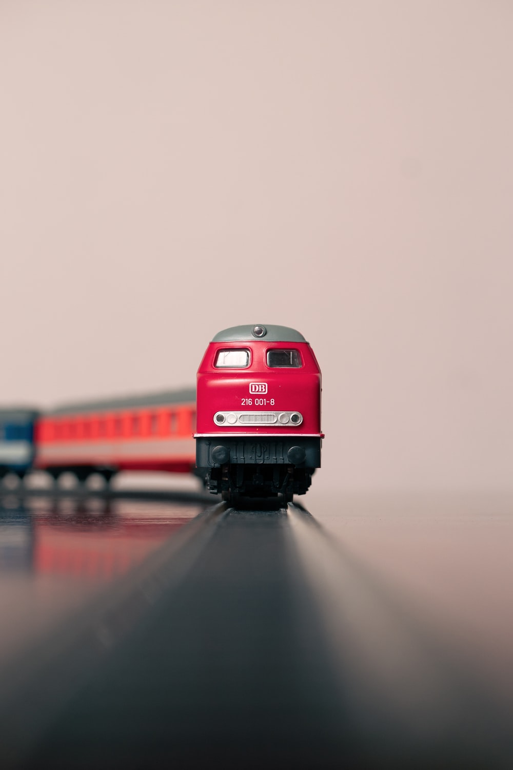 red and black train toy