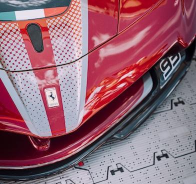 Ferrari nose cone - Automotive content writing - Mike Cobb Copywriter