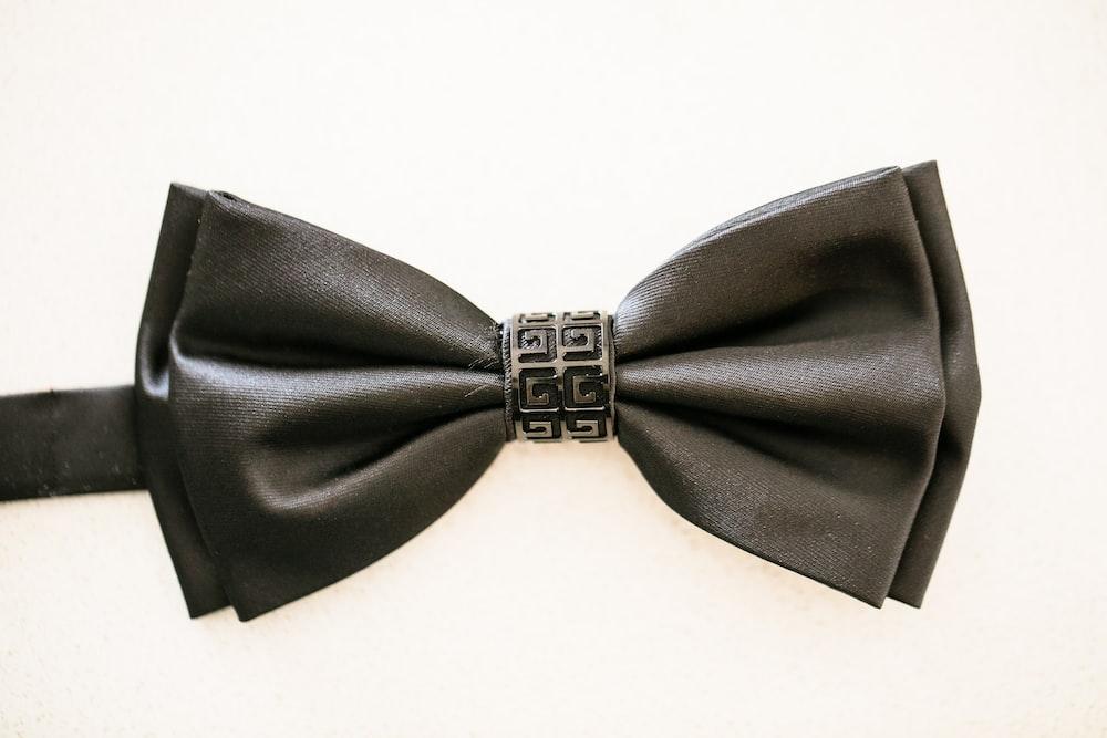black bowtie on white background