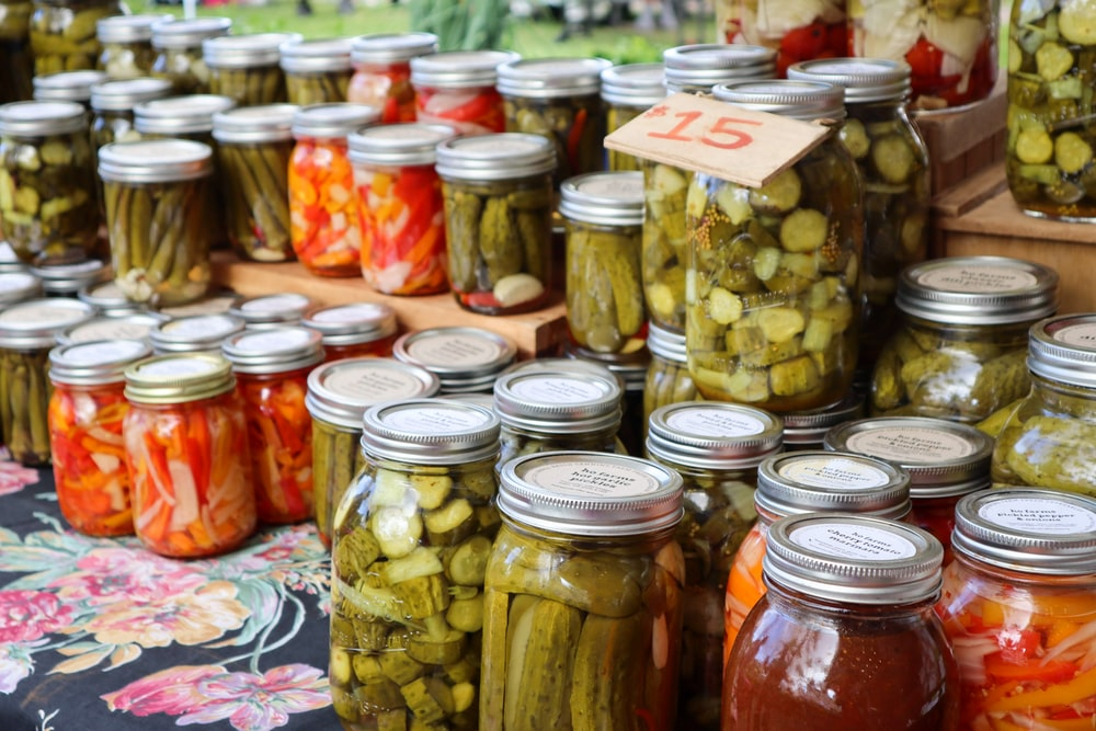 clear glass jars with candies