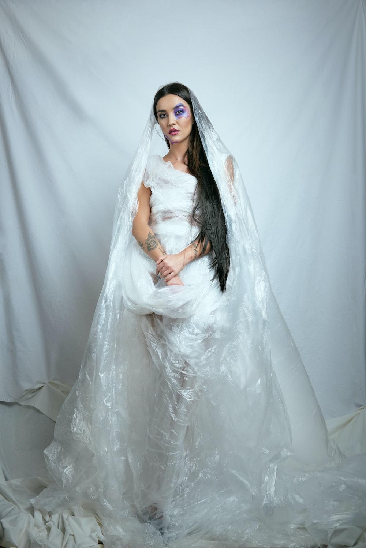 woman in white wedding dress