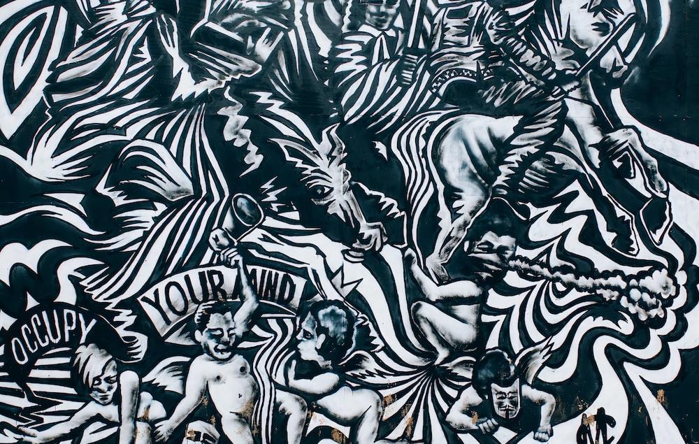 black and white zebra print textile