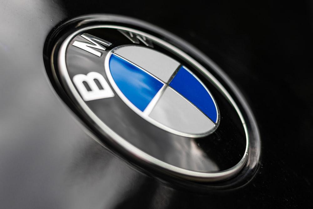 black blue and silver bmw emblem