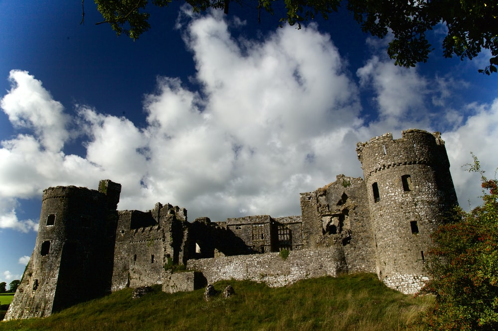 gray concrete castle under blue sky and white clouds during daytime
