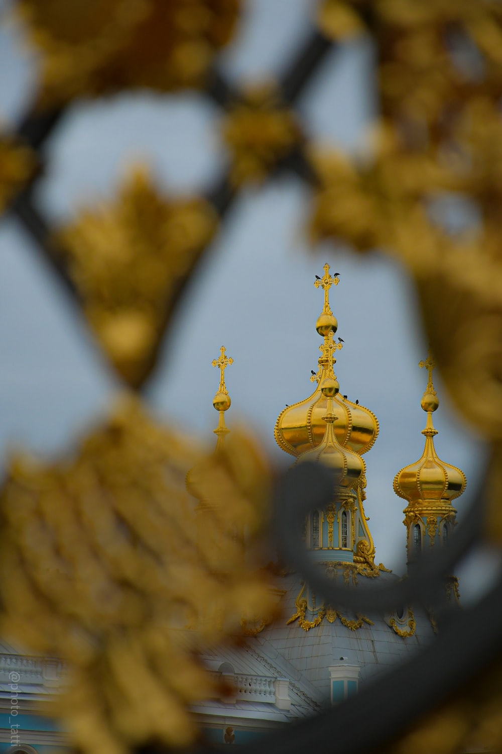 gold and white dome building