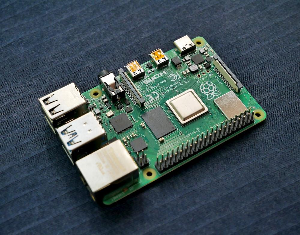green and black circuit board
