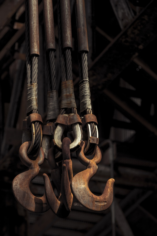 brown metal hook with brown metal handle