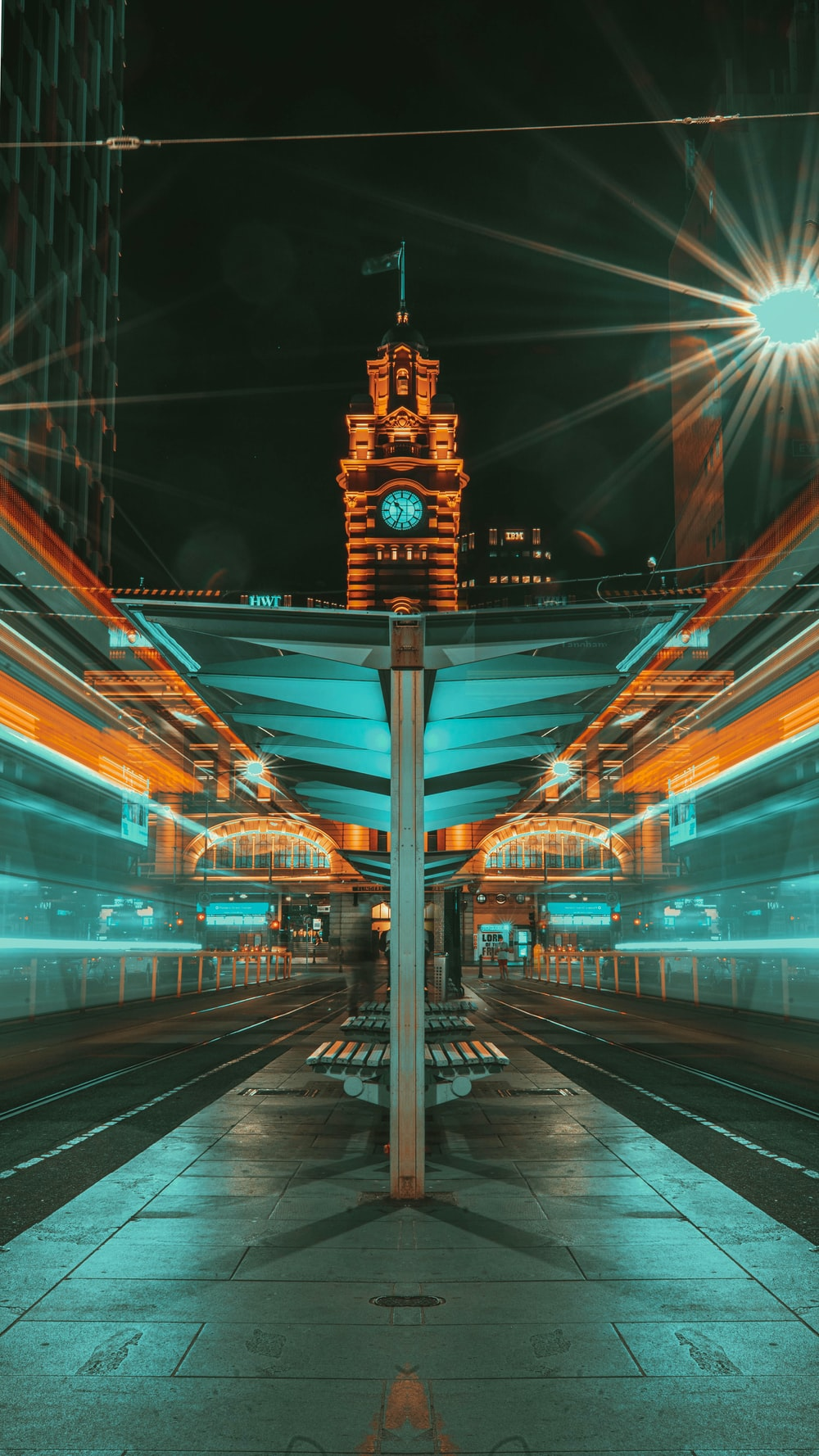 time lapse photography of city street during night time