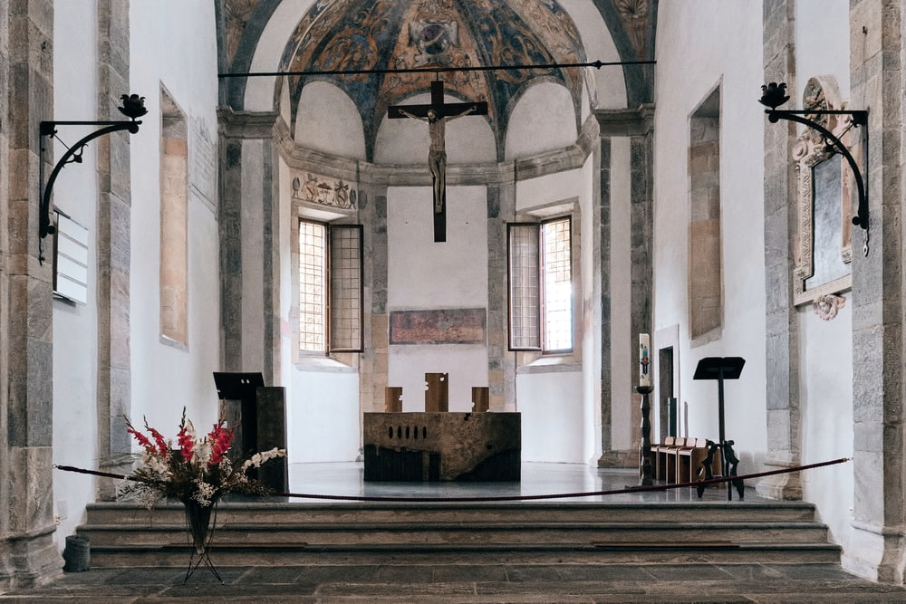 white and brown church interior