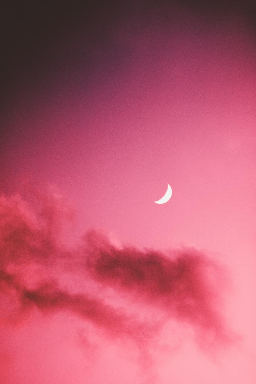 half moon in the sky
