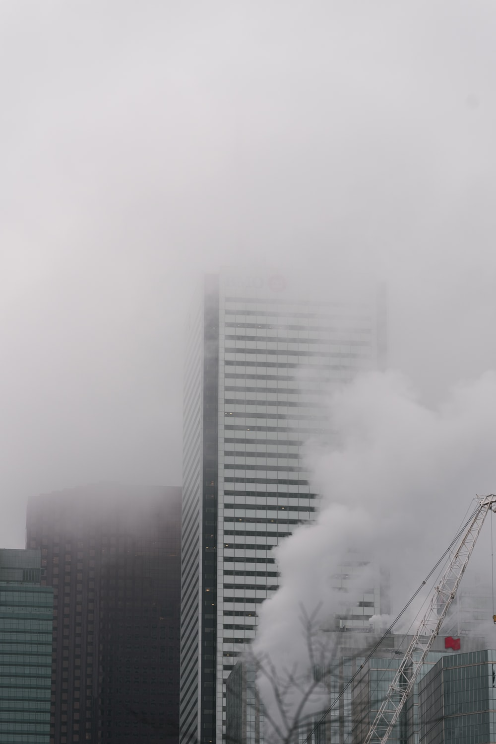 white smoke coming out from a building