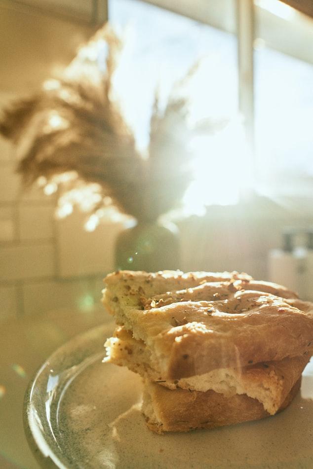 Een van de lekkerste gerechten van de Bloemenrivièra namelijk focaccia brood