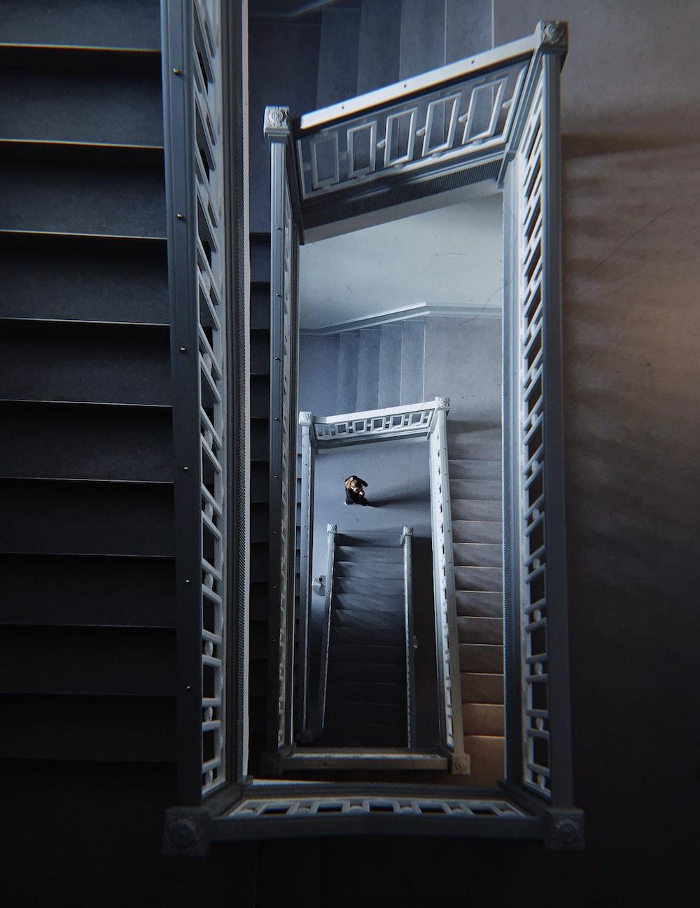 gray wooden framed glass door