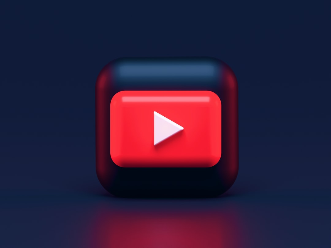 YouTube Dark Mode 3D icon concept. Write me: alexanderbemore@gmail.com, if you need 3D visuals for your products.