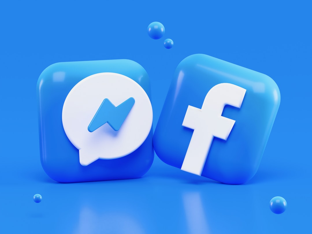 Facebook & Messenger 3D icons concept. Write me: alexanderbemore@gmail.com, if you need 3D visuals for your products.